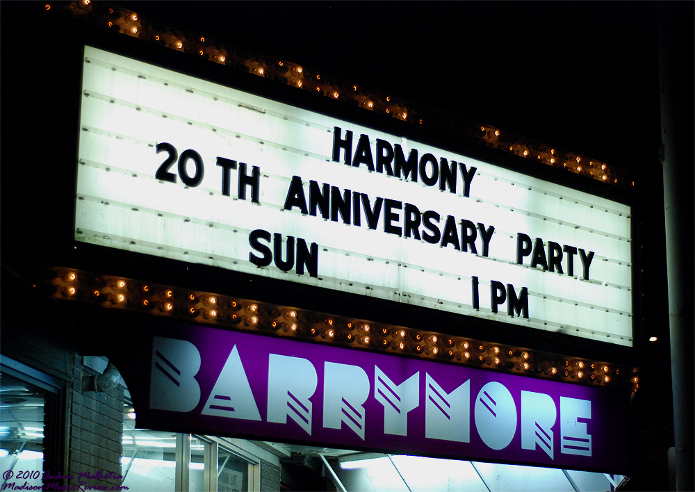 The Harmony Bar's 20th Anniversary Concert: March 14, 2010 @ The Barrymore