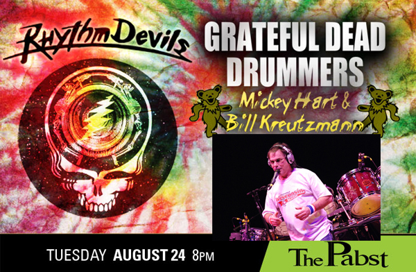 Rhythm Devils with Mickey Hart and Bill Kreutzmann – Tue., August 24, 2010 – The Pabst Theater