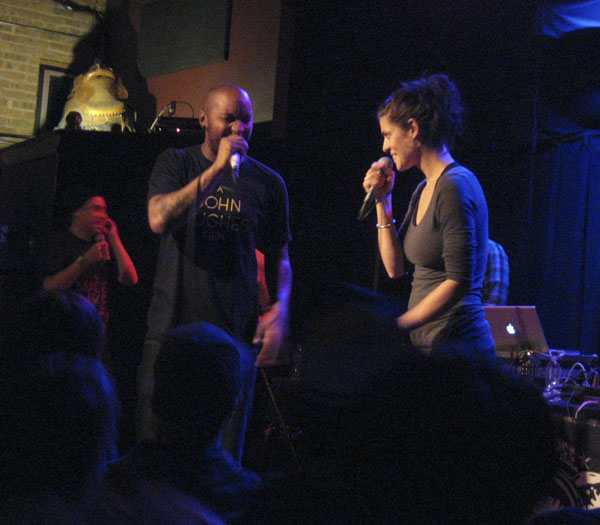 Dessa and P.O.S. performing at High Noon Saloon