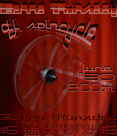 Techno Thursday: DJ's Spincycle and Phil Money