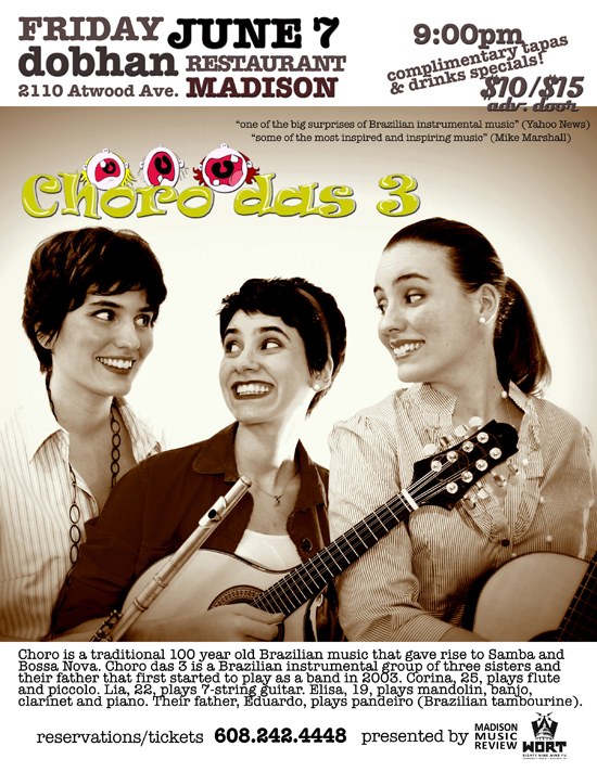CHORO DAS TRES – Fri., June 7, 2013 – Dobhan
