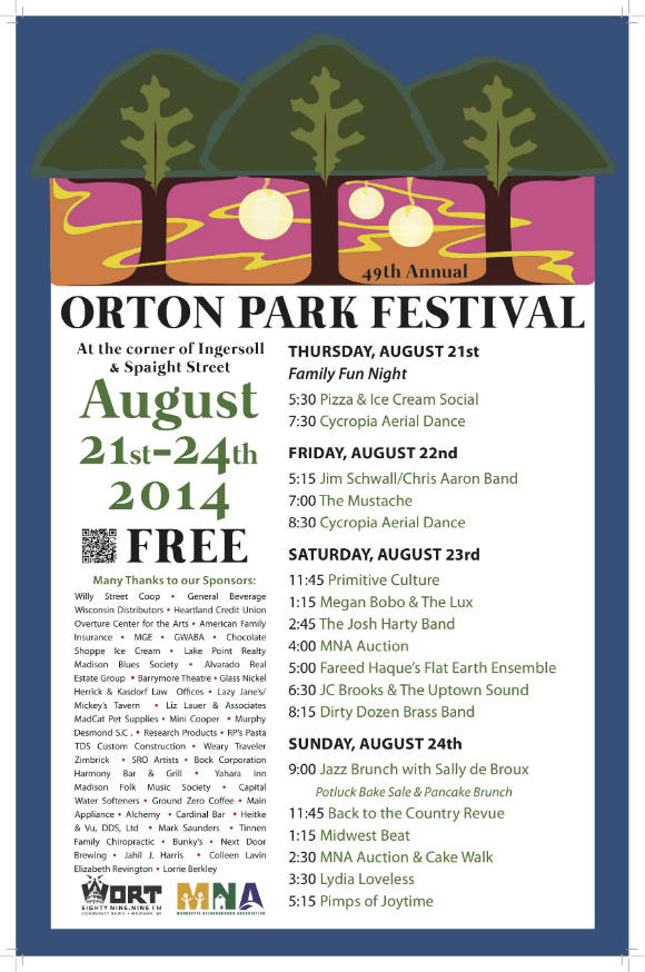 ORTON PARK FESTIVAL (49th edition) – Thu., August 21, 2014 – Orton Park