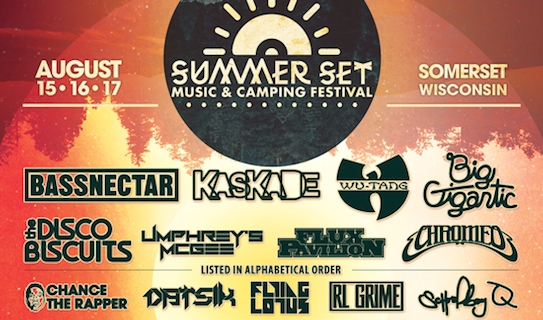 SUMMER SET MUSIC FESTIVAL – Fri., August 15, 2014