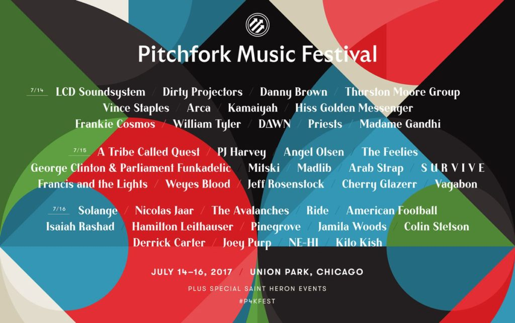PITCHFORK MUSIC FESTIVAL - Fri , July 14, 2017 - Union Park