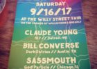 CLAUDE YOUNG – Sat., September 16, 2017 – Willy Street – Madison